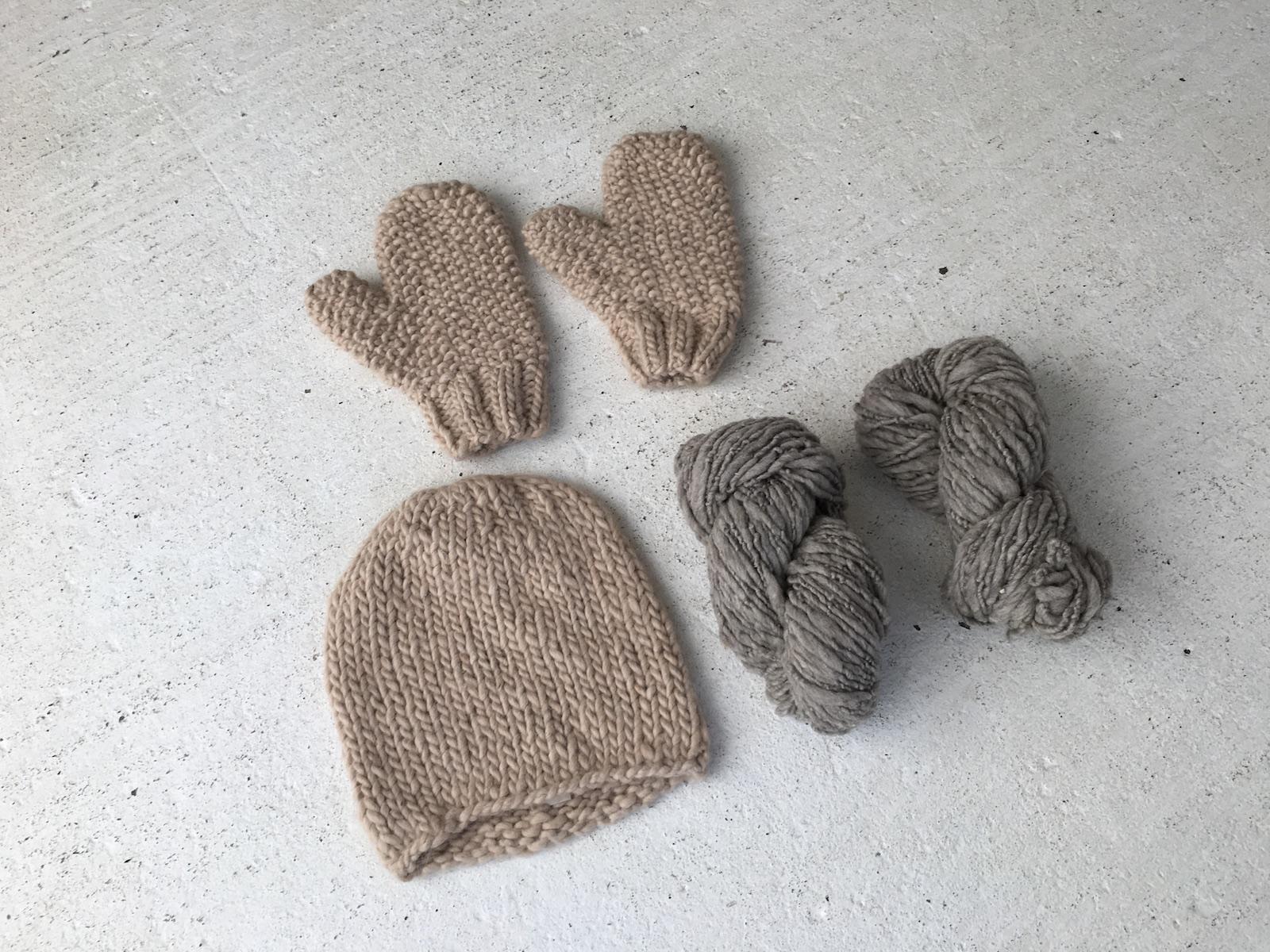 handspun hat,   handspun mittens ,  handspun yarn