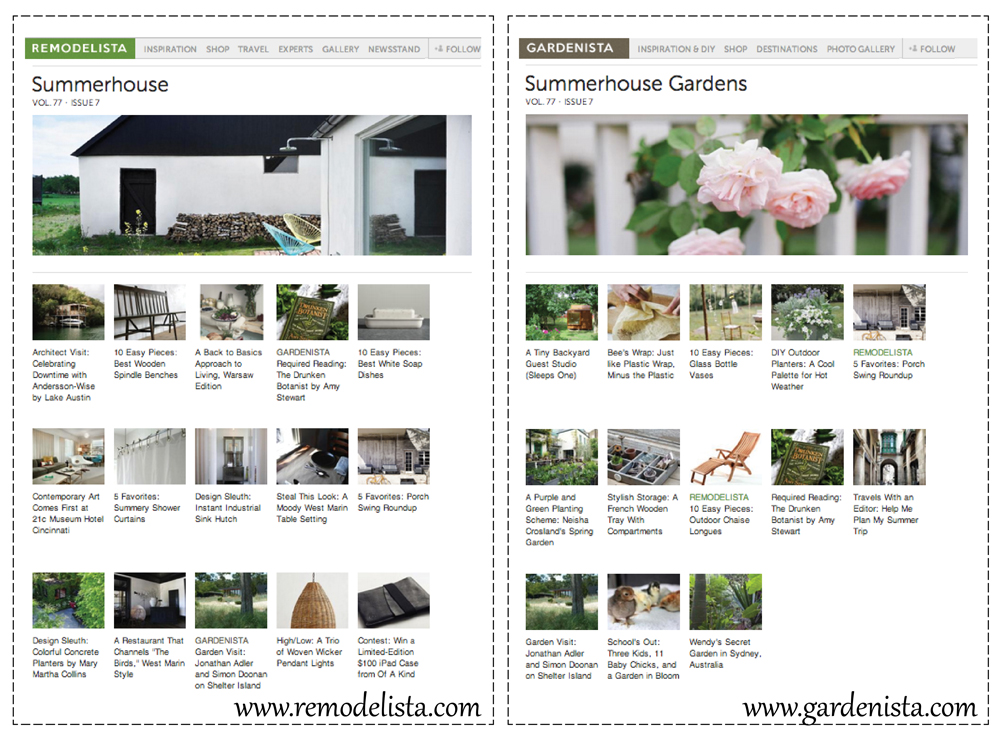 images via  REMODELISTA  and  GARDENISTA