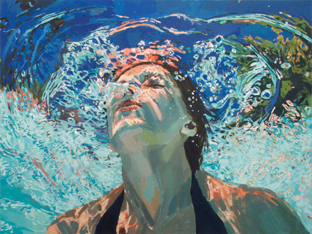 Samantha French, oil on canvas,  Breakthrough , 2012