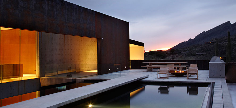by  Rick Joy Architects  via  Ventana Canyon House