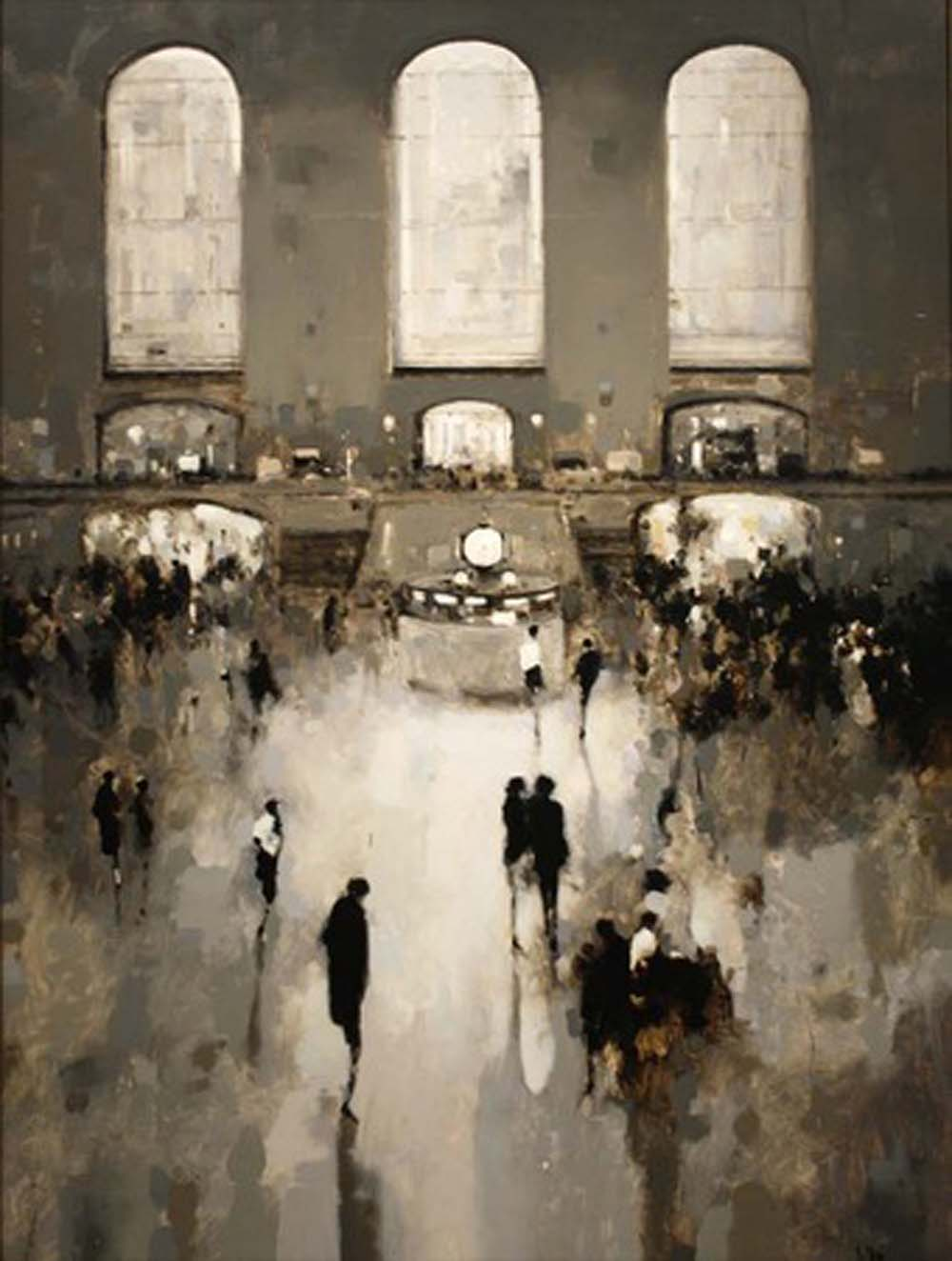 Geoffrey Johnson, Study Grand Central, oil on wood panel, 2013 via  Hubert Gallery
