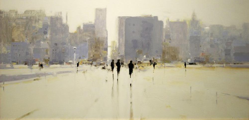 Geoffrey Johnson, West VillagePM, 2013 via  Hubert Gallery