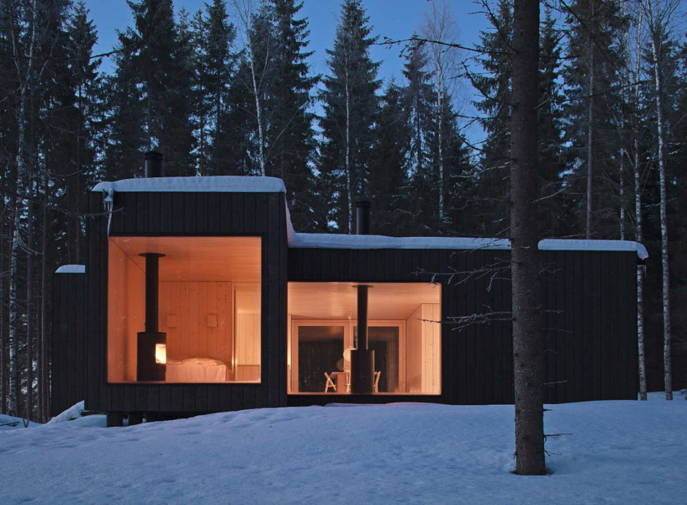 four corned cabin  by  avanto architects