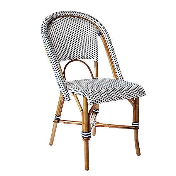 Riviera Side Chair - Navy  by Serena and Lily