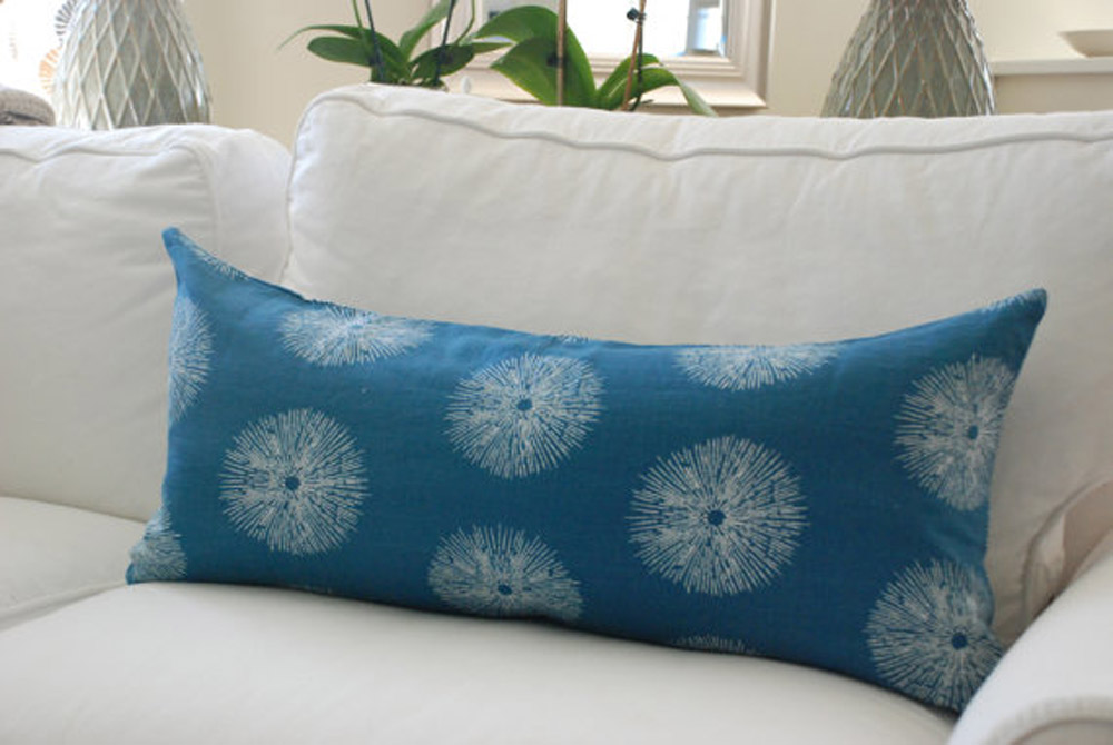 Kelly Wearstler sea urchin fabric pillows via  Etsy