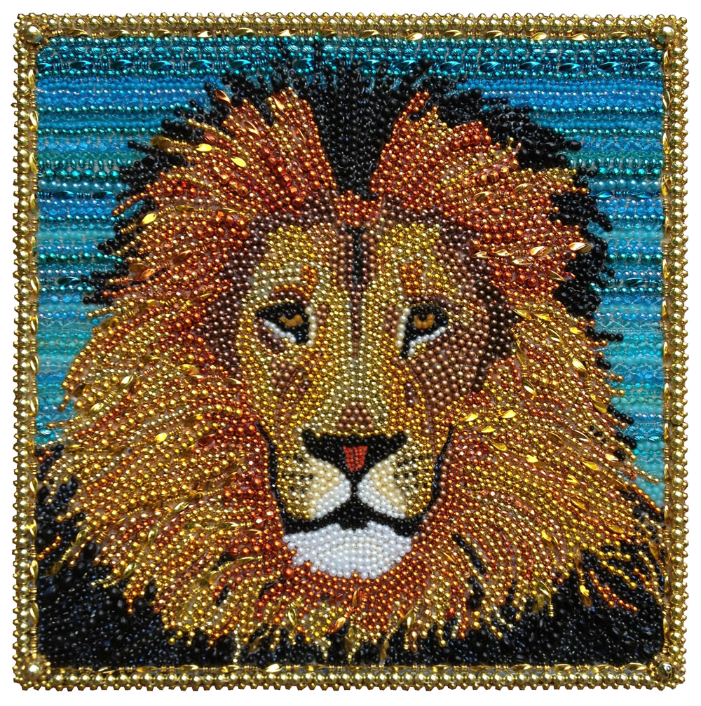 "Lion  - 24"" x 24"" -  Rob Corley"