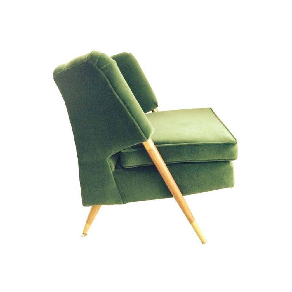 Mid Century Emerald Velvet Chair  - $900