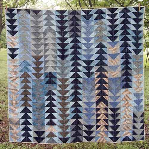 Flying Geese Quilt  by  Folk Fibers