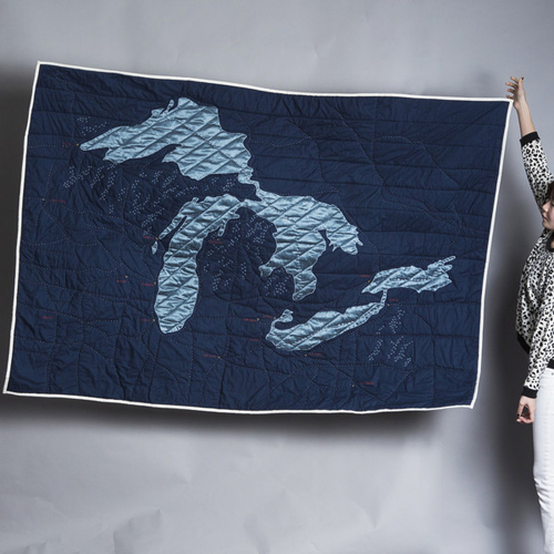 Great Lakes quilt  by  Haptic Lab