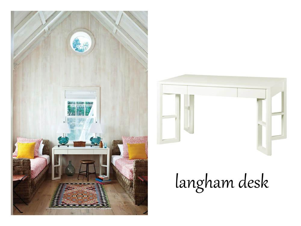 Bungalow 5 Langham desk - image via  Traditional Home design by  Maureen Footer