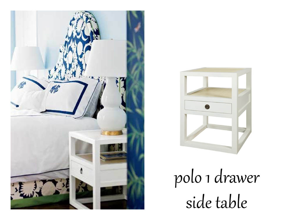 Bungalow 5 polo 1 drawer side table  - bedroom source unknown