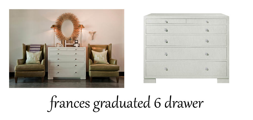 Bungalow 5 frances graduated 6 drawer  - entry image and design by  Coveted Home