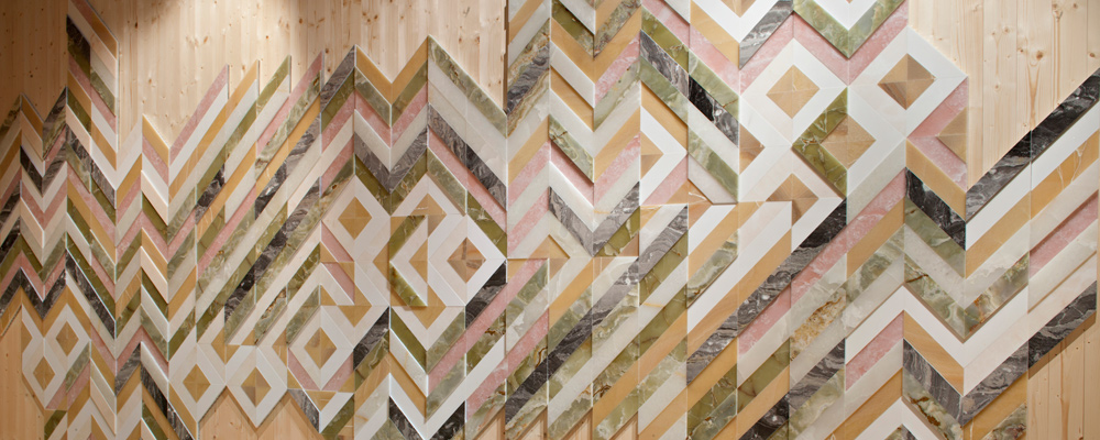earthquake 5.9 fishbone wall inlay via  Budri