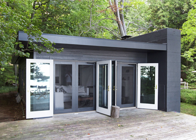 new bifold doors via  Smitten Studio