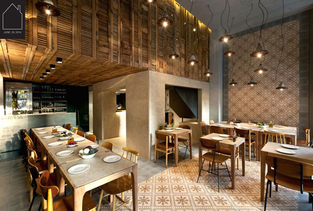 Capanna Pizzeria in Kolonaki, Athens - Greece designed by  K Studio  photo by  Yiorgos Kordakis  via  Yatzer