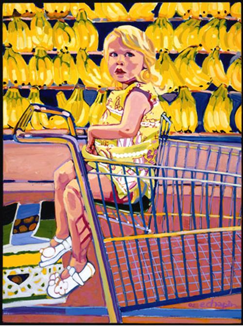 "Elizabeth Chapin  - Bananas - 40"" x 30"""