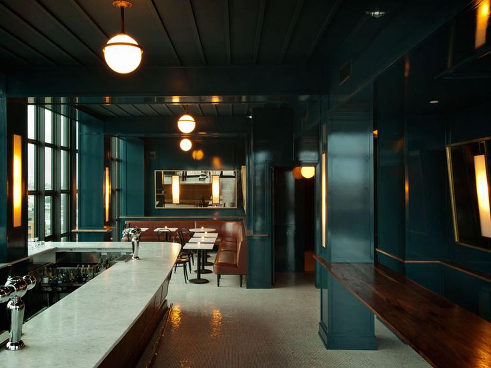 Wythe Hotel bar designed by WORKSTEAD