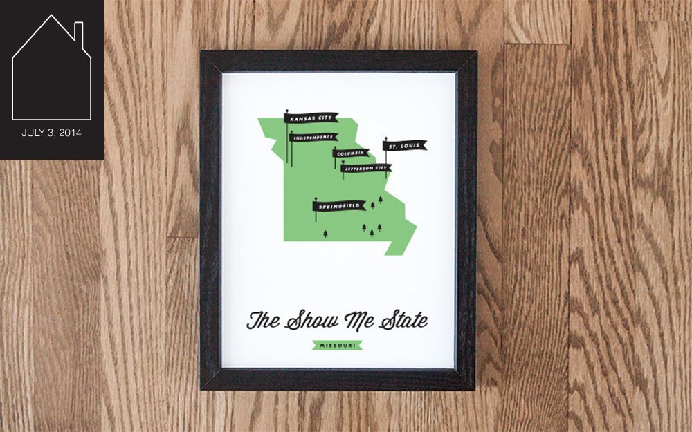 Missouri flag map by  These Are Things
