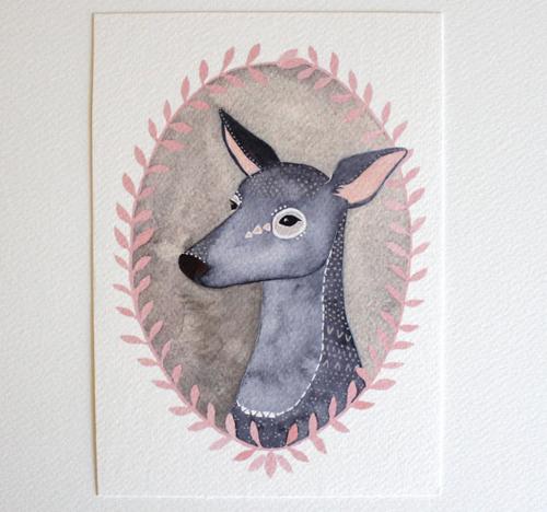 deer illustration art  by  Marisa Redondo