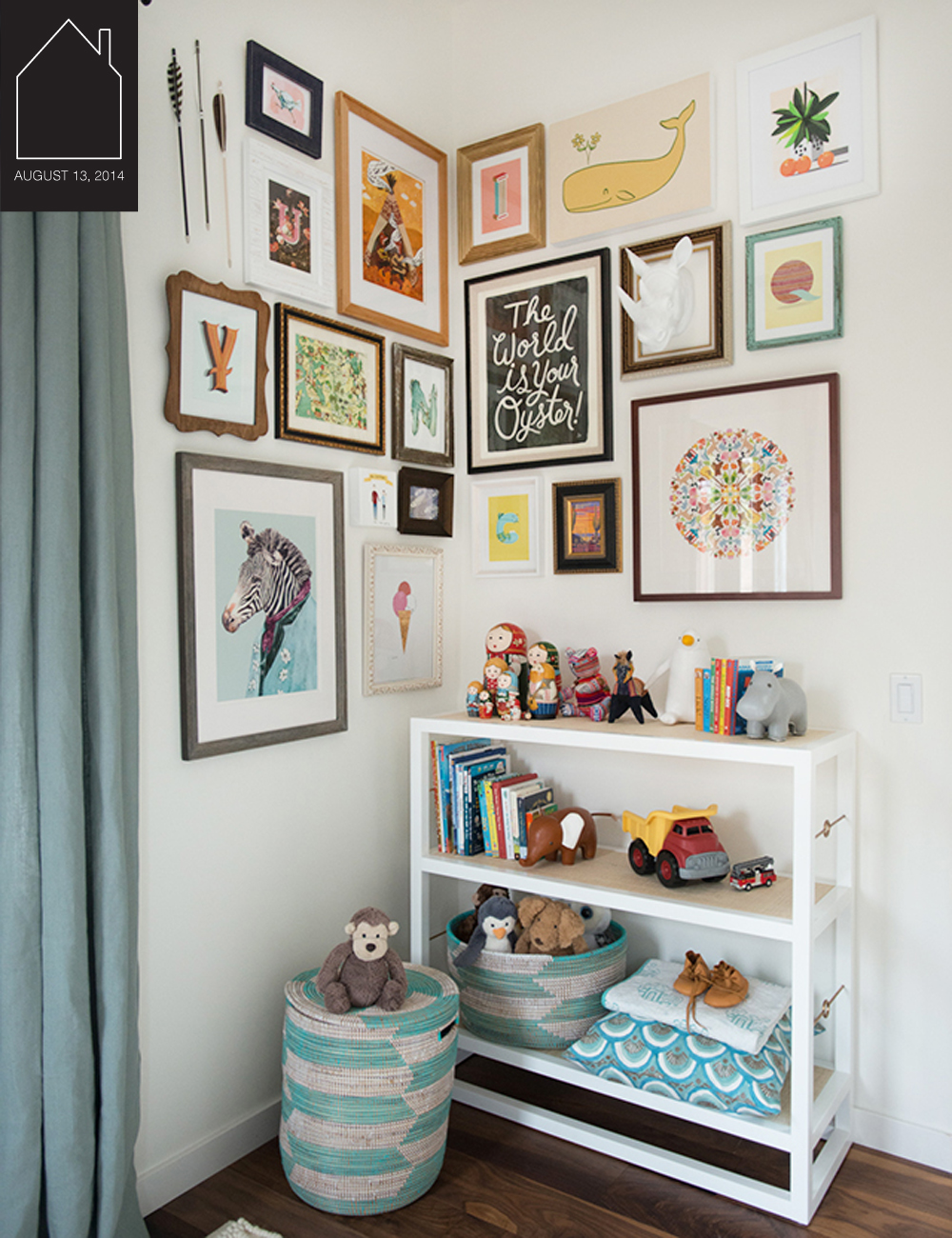 nursery gallery wall design via  Honestly WTF