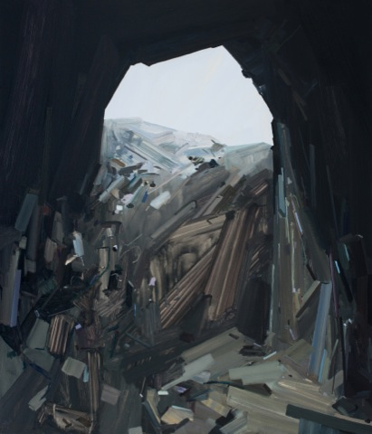 """Claire Sherman -  Cave  - 2014 - 84"""" x 72"""" - Oil on Canvas"""