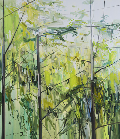 """Claire Sherman -  Trees  - 2013 - 84"""" x 72"""" - Oil on Canvas"""