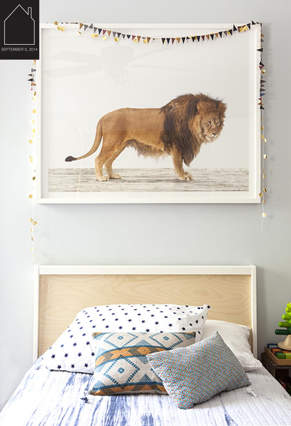 Lucien's Lion Den via  The Animal Print Shop