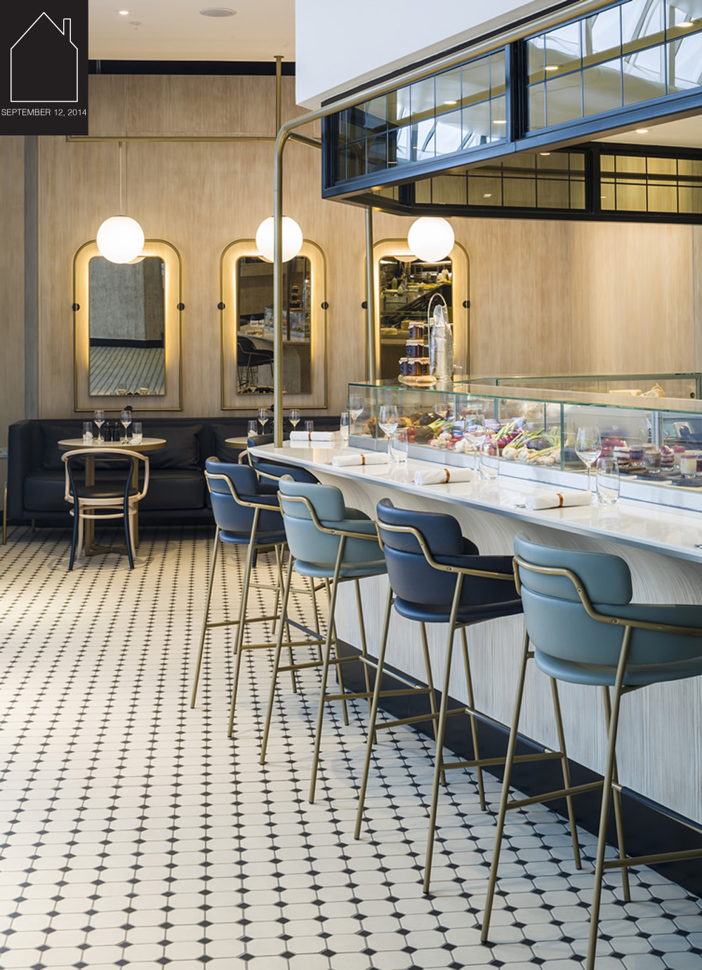 The Gorgeous Kitchen at Heathrow Airport via  wh  design by  Blacksheep