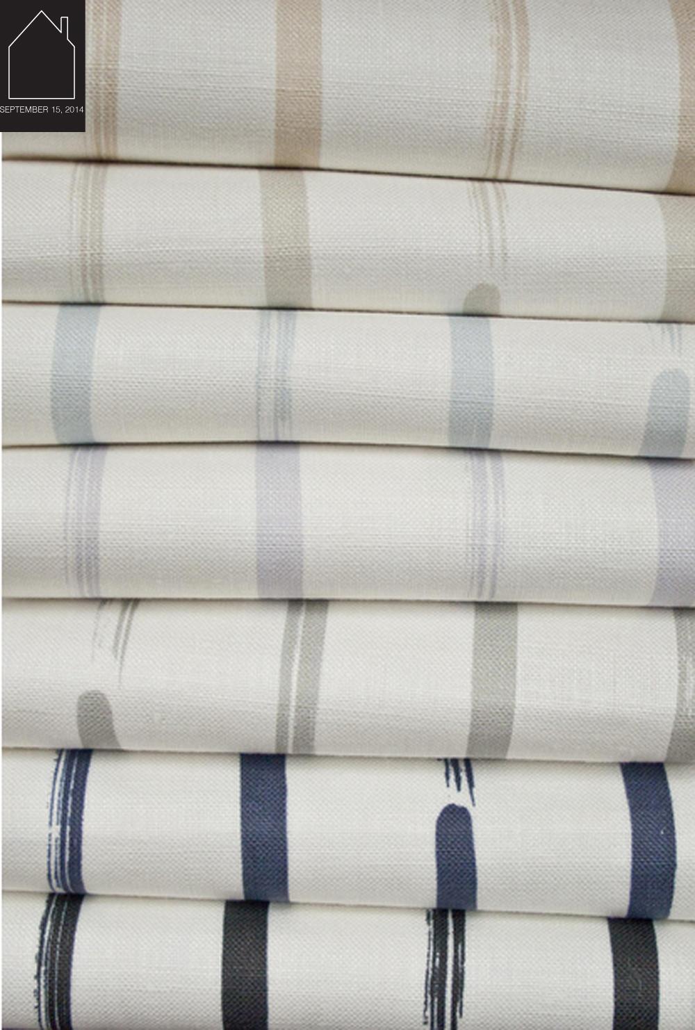 dry brush stripe on ivory linen  by  bycasey