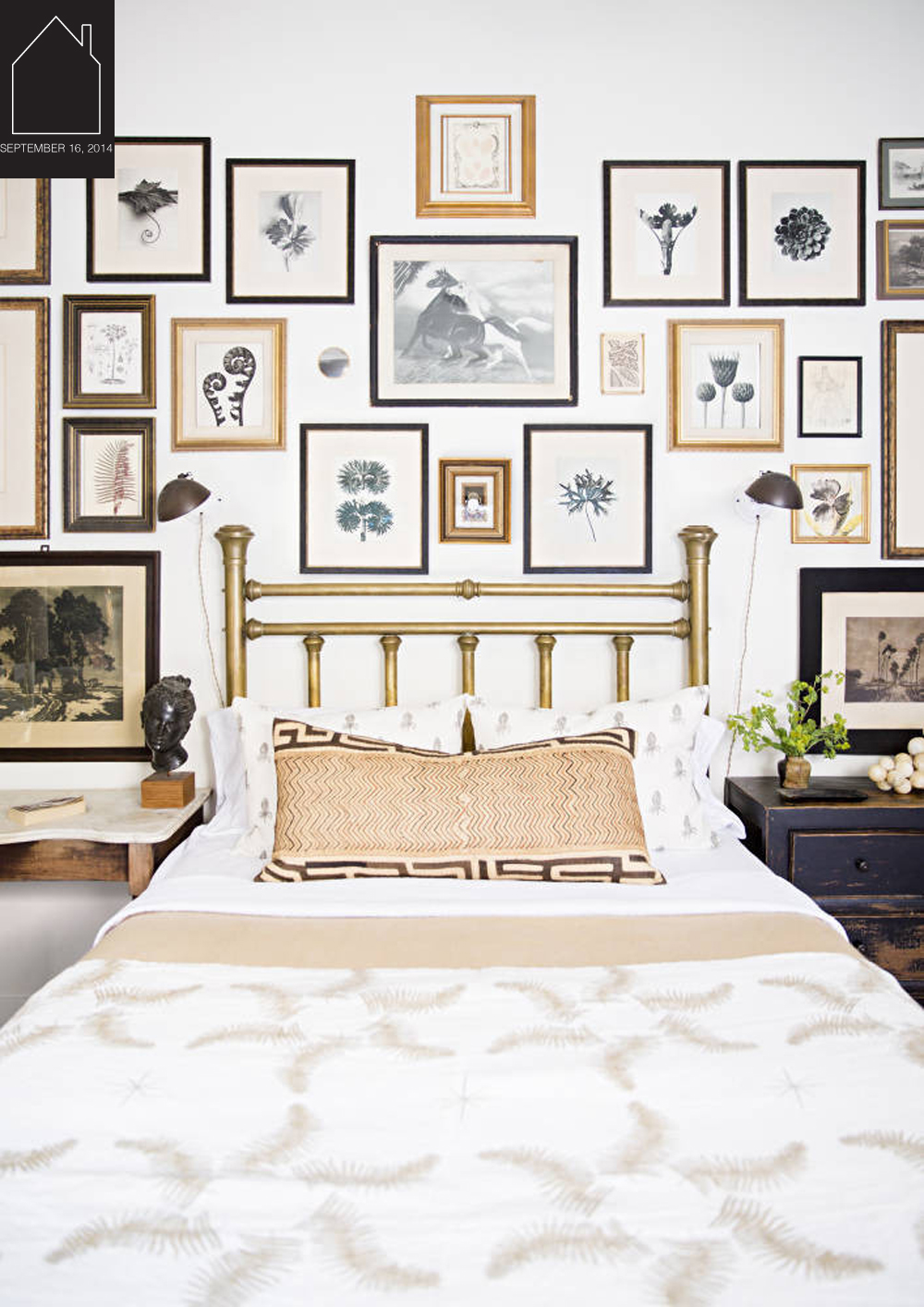 bedroom by  Lauren Liess  via  Domino