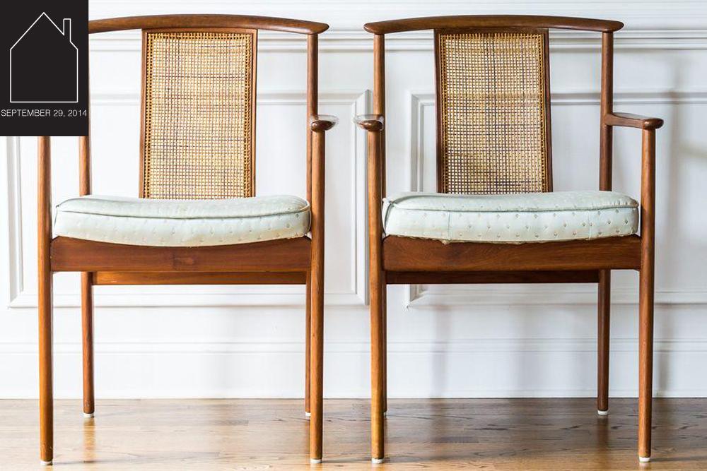 Mid-Century Modern Dux Armchairs  via  Chairish