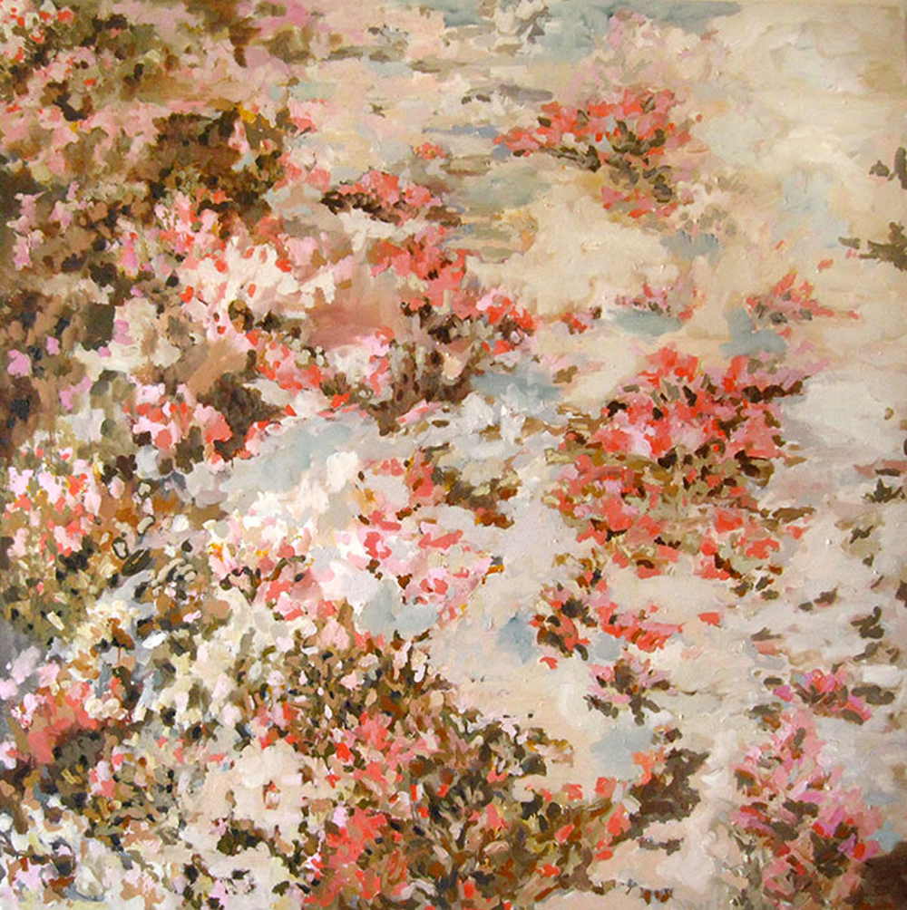 "Erin Lynn Welsh -  Real Heavy  (2012) - 54"" x 54"" - Oil on Canvas"