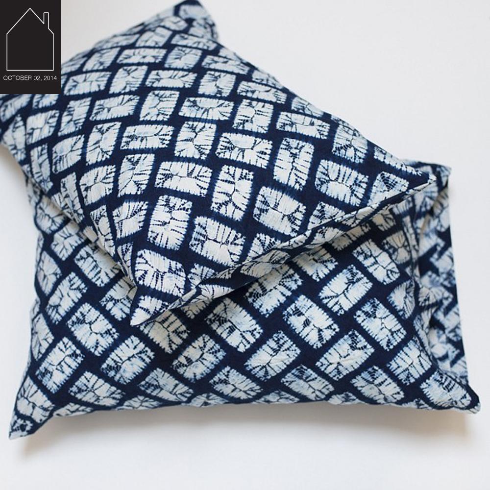 indigo shibori pillow cases  from Cloth & Goods