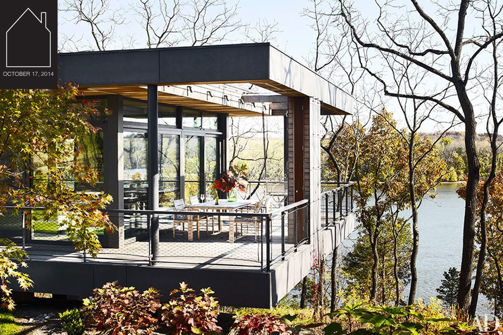 Hudson River home via  Architectural Digest  by  BW-Architects