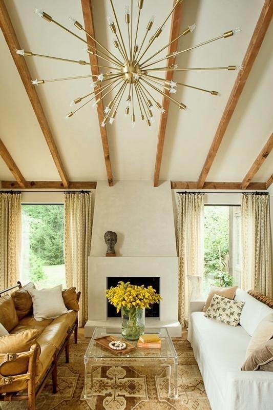 Lauren Liess' living room in  her Virginian home