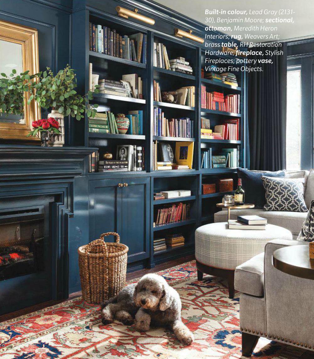 Lead Gray  - design by  Meredith Heron  via  House & Home