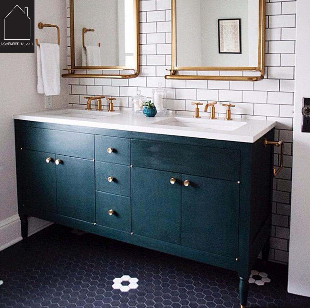 bathroom design by  Casework  via  Wit & Delight