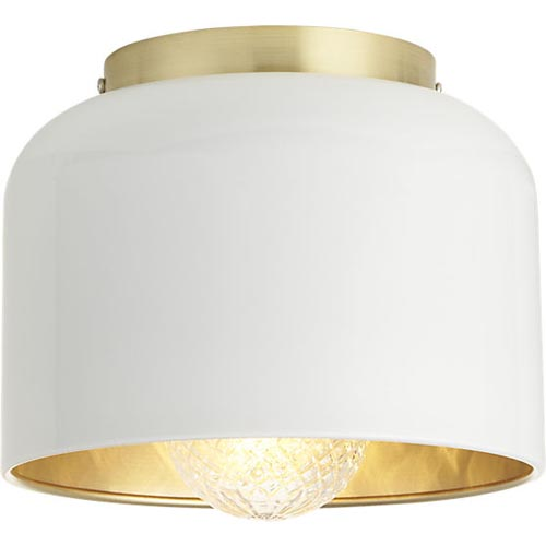 Bell Flush Mount Lamp  via  CB2