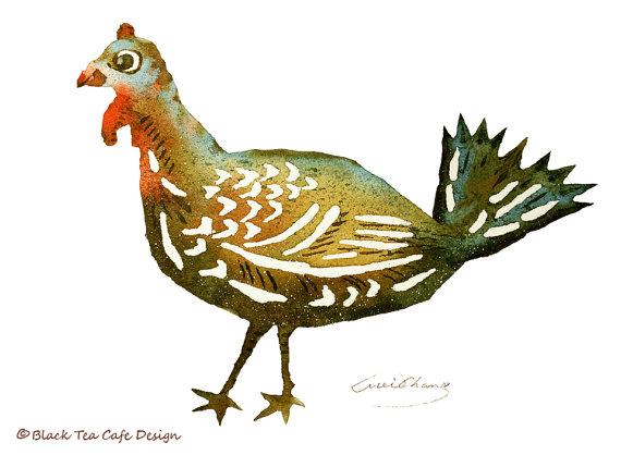 Turkey Painting  by  Black Tea Cafe Design