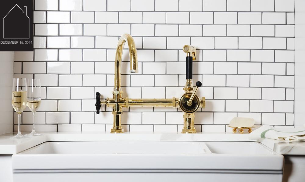 regulator gooseneck single spout kitchen faucet  by  Waterworks