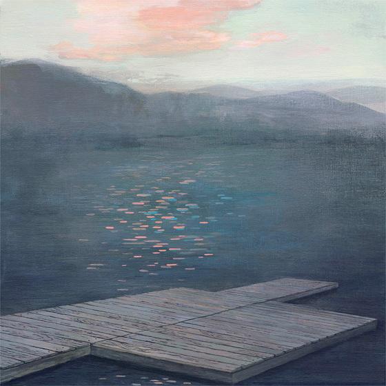 Danna Ray -  Boundary of Surface  - acrylic on panel - 2010