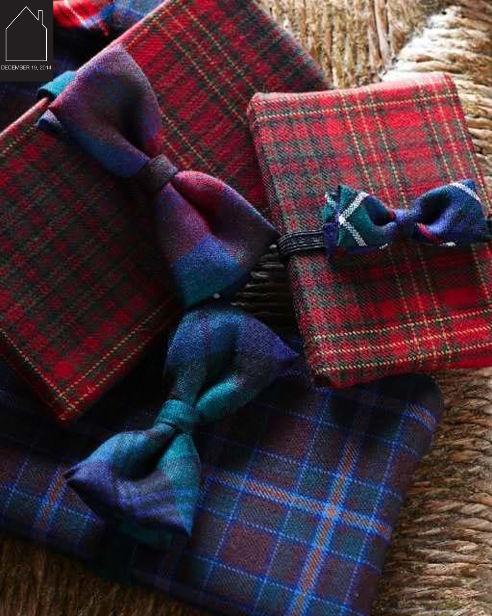 tartan gift wrap by  sweet paul