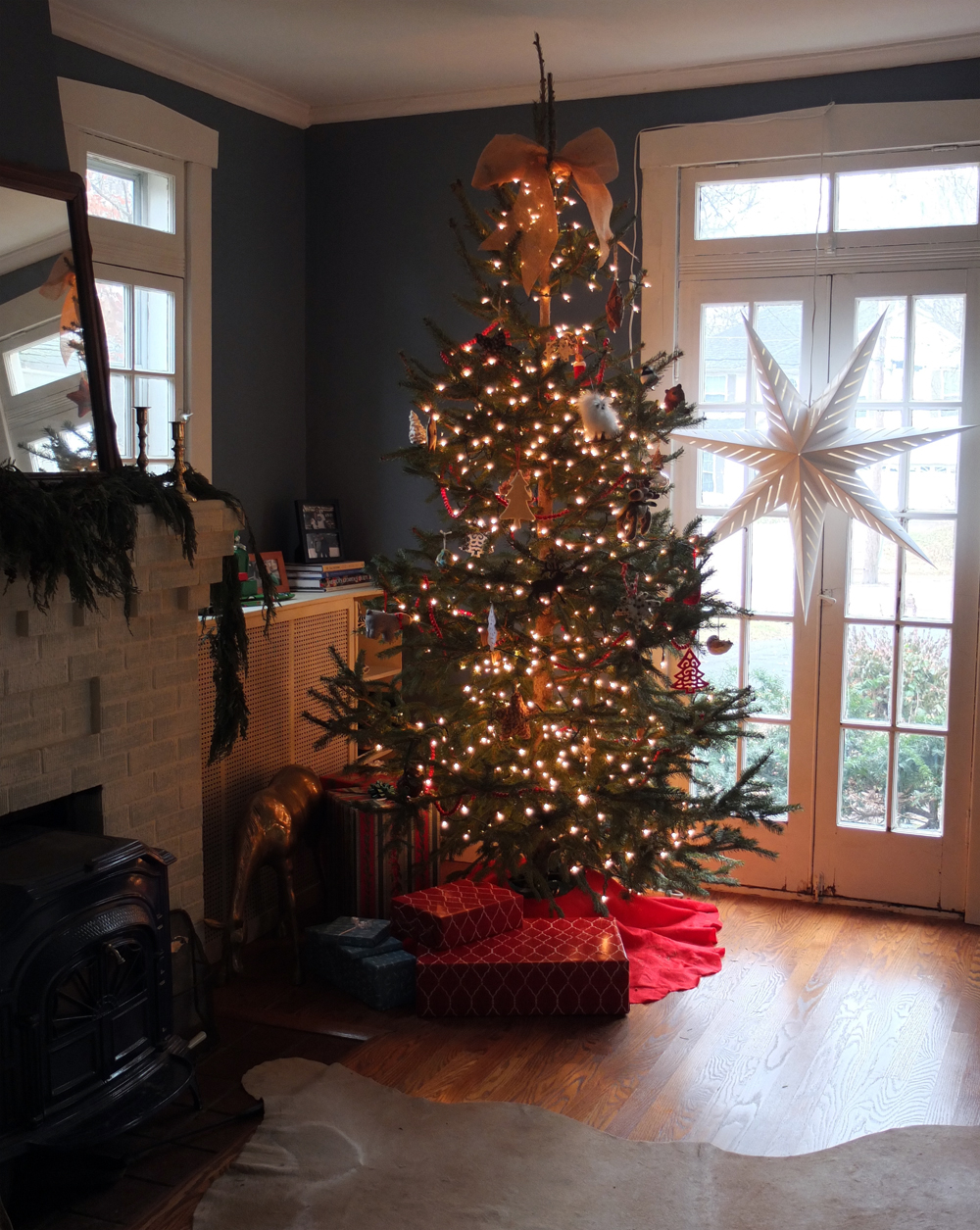 our christmas tree in the den