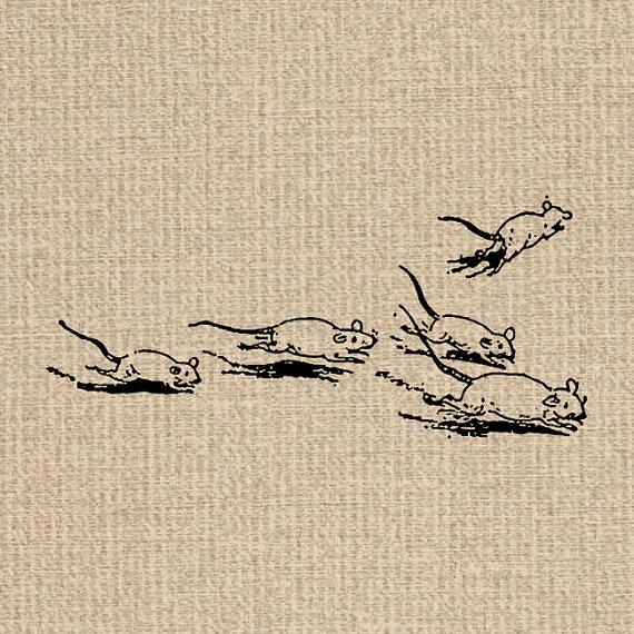 vintage mice illustration via  Etsy