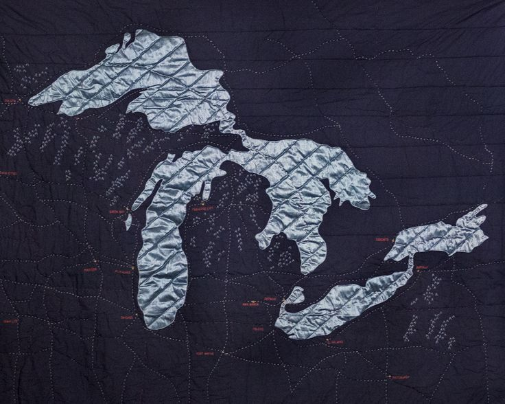 Great Lakes Quilt  by  Haptic Lab  via  Detroit Mercantile