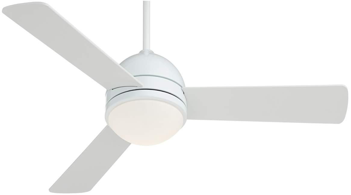 "44"" Casa Vieja Trifecta White Ceiling Fan  via Lamps Plus"