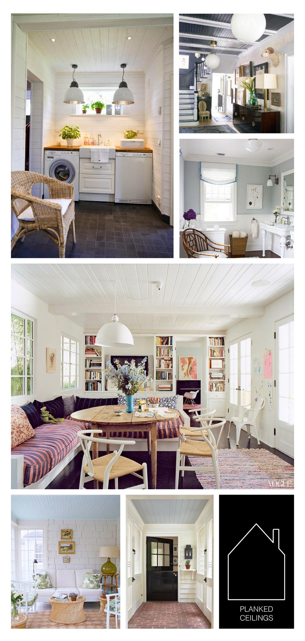 from top left  - via  Pellmell Creations - via  Elle Decor - home of Patricia Fischer via  HomeDit - home of Amanda Peet via  Vogue - via  House Beautiful  - source unknown