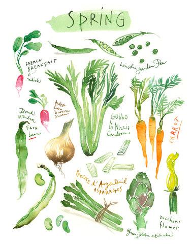 spring garden kitchen  poster by  Lucile's Kitchen
