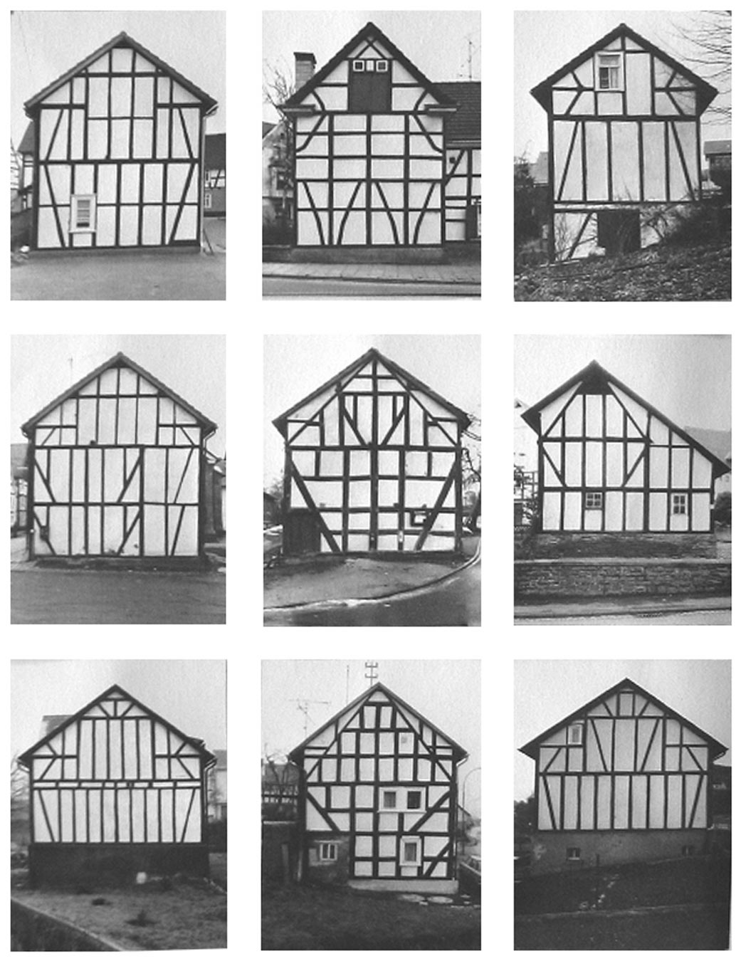 Bernd and Hilla Becher - Framework Houses, 2011 -  Sonnabend Gallery