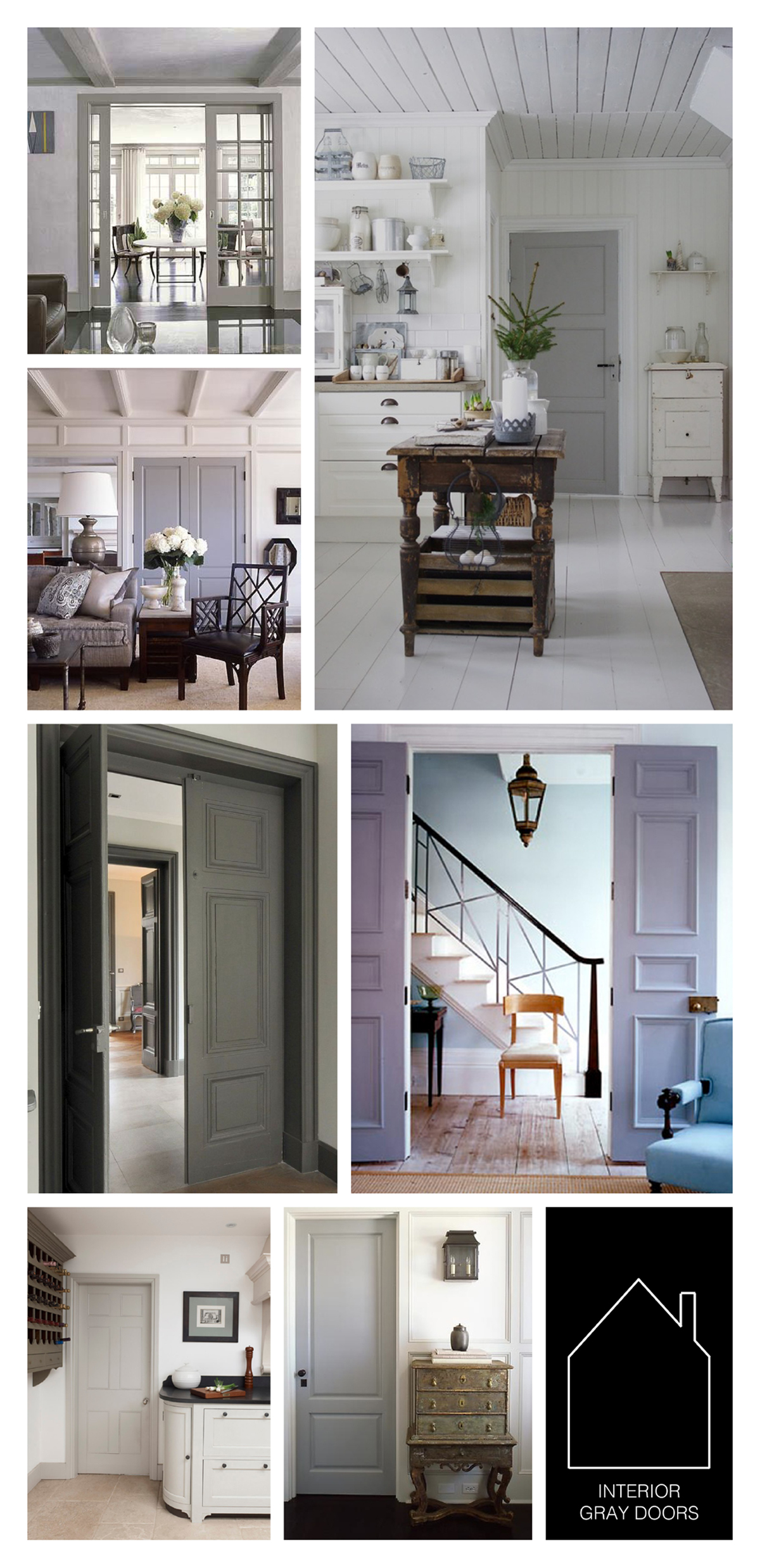 from top left - via  BHG  - via  M Street Style  - design by  SR Gambrel  - source unknown - design by  SR Grambel - kitchen by  Chalon  via  The Paper Mulberry   - design by  SR Gambrel
